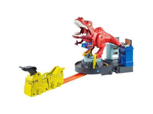 Трек Mattel Hot Wheels City T-Rex Rampage GFH88