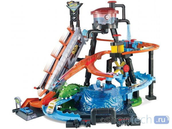 Трек Mattel Hot Wheels  City Ultimate Gator Car Wash FTB67