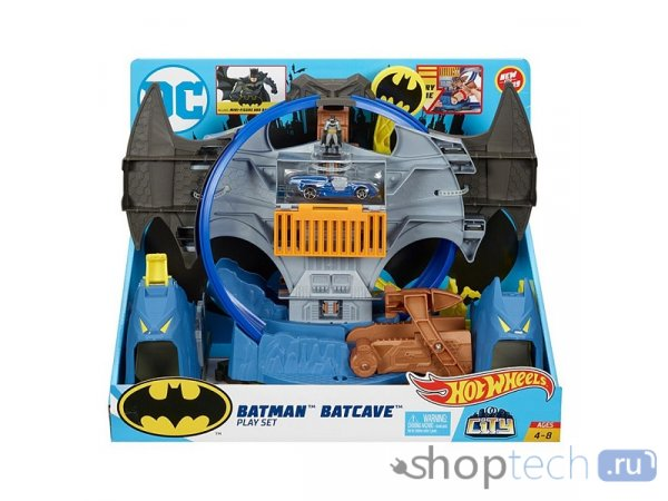 Трек Mattel Hot Wheels City Batman Batcave GBW55