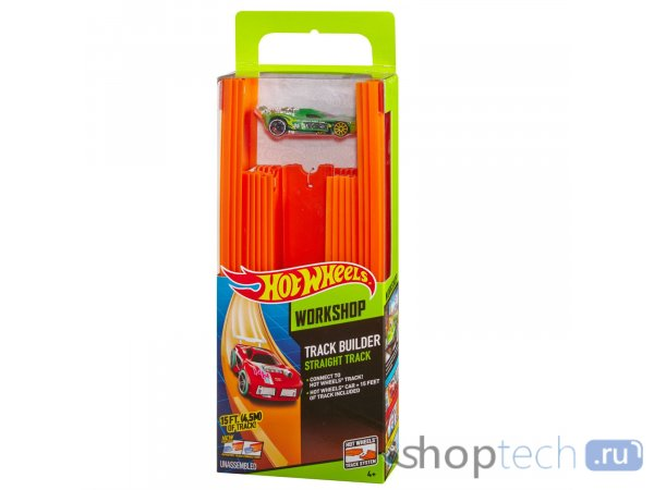 Трек Hot Wheels Конструктор трасс: 4 метра + машинка BHT77