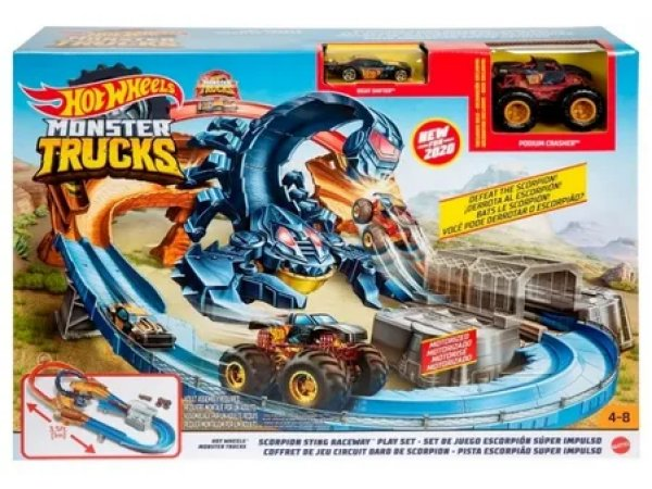 Трек Hot Wheels Monster Truck Scorpion Sting Raceway GNB05