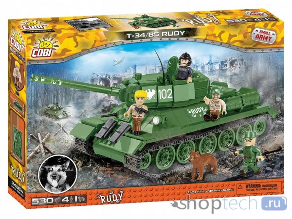 Конструктор Cobi Small Army 2486А T-34/85 Руди