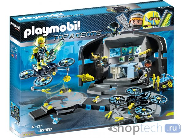 Конструктор Playmobil Top Agents 9250 Командный центр Доктора Дрона