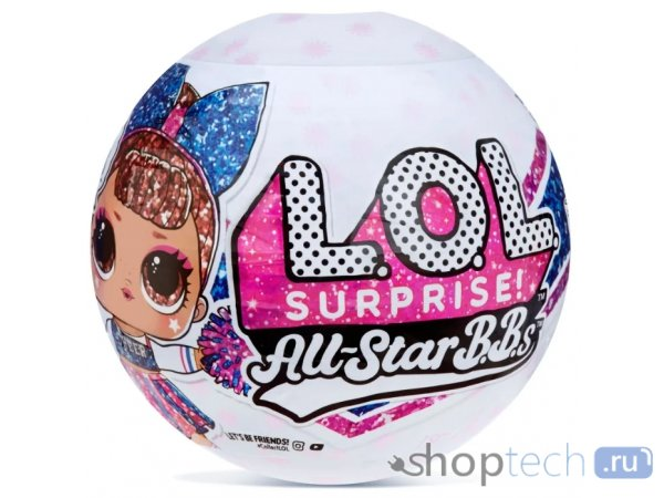 Кукла-сюрприз L.O.L. Surprise All-Star B.B.s Sports Series 2 Cheer Team в шаре, 571780