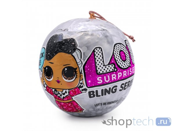 Кукла-сюрприз MGA Entertainment в шаре LOL Surprise Bling Series, 8 см, 554806