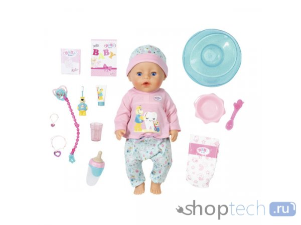 Интерактивная кукла Zapf Creation Baby Born Bath Soft Touch Girl 43 см 827-086