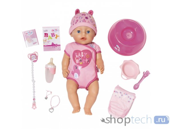 Кукла Zapf Creation Baby born Интерактивная 43 см 825-938/824-368