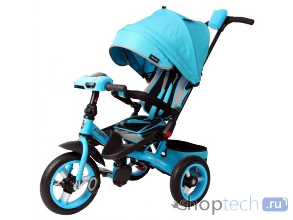 Велосипед Moby Kids Leader 360° 12x10 AIR Car бирюзовый 641072